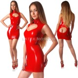 DL0008 Dress with stand collar one-color
