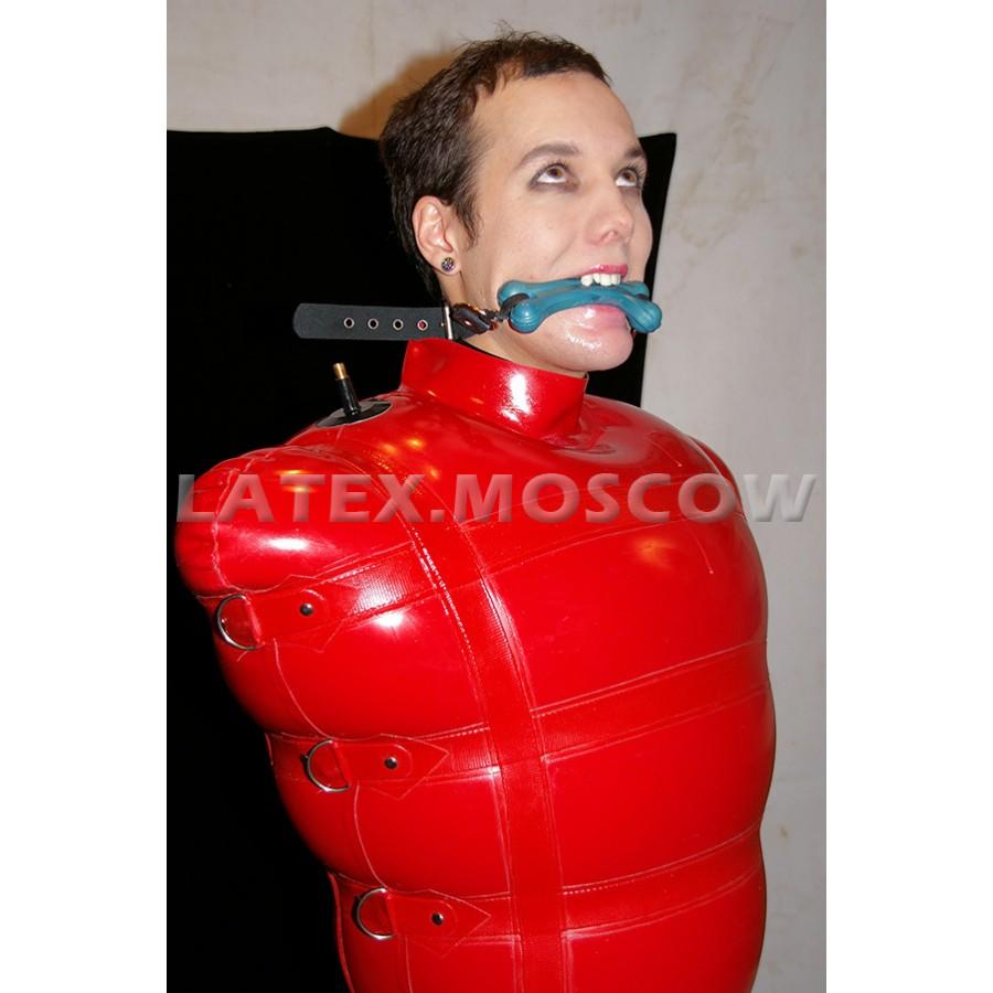 Inflatable latex bondage