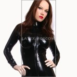 CA0007 Latex Catsuit BOOBS with implants unisex