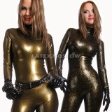 CA0025 Textured Latex Catsuit womens