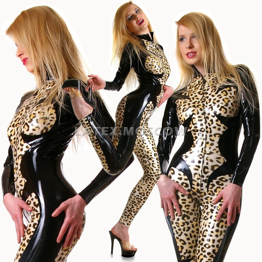 CA0081 Latex Catsuit LEO unisex