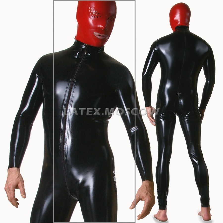 CA2005 Latex Catsuit mens with options