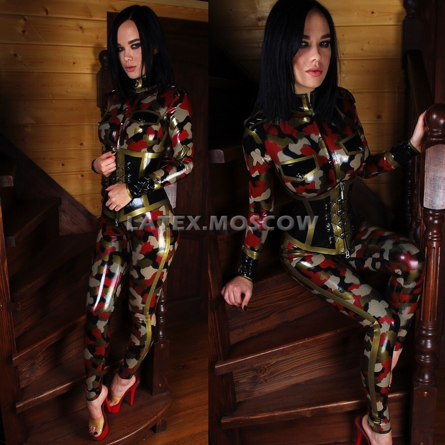 CA4090 Latex Military CAMOSUIT M2 unisex