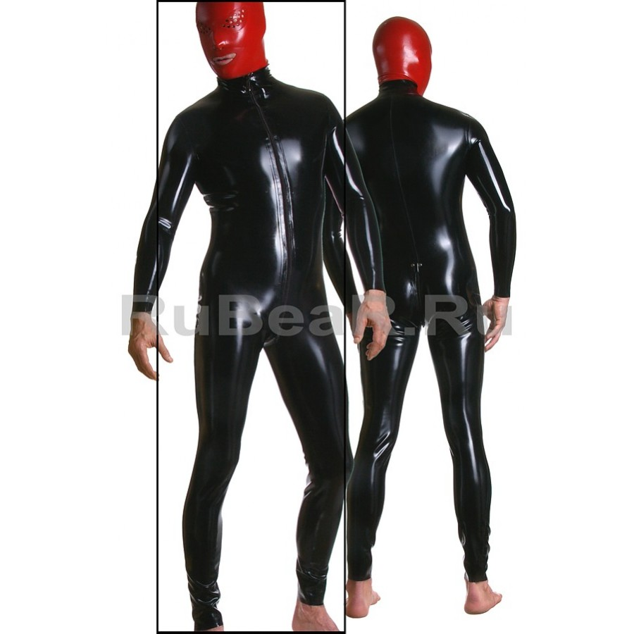 ZCA3579-20z Catsuit Shoulders Zipper Mens (XS)