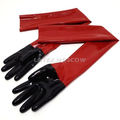 YL0305 Latex Gloves Long bi-color