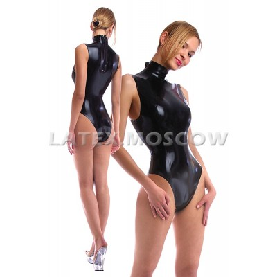 BA4661 Latex Sleeveless Leotard