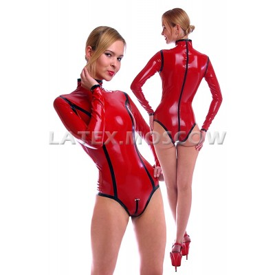 BA5668 Latex Leotard with edges