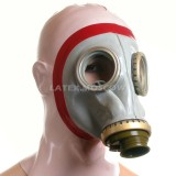 AS9101 Gas Mask with attached hood