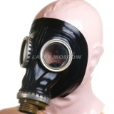 AS9102 Gas Mask with attached hood