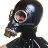 AS9202 Gas Mask with attached hood hangman style