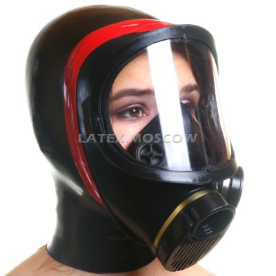 AS9411 Gas Mask with attached hood