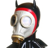 AS9801 Gas Mask with attached hood hangman style