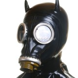 AS9802 Gas Mask with attached hood hangman style