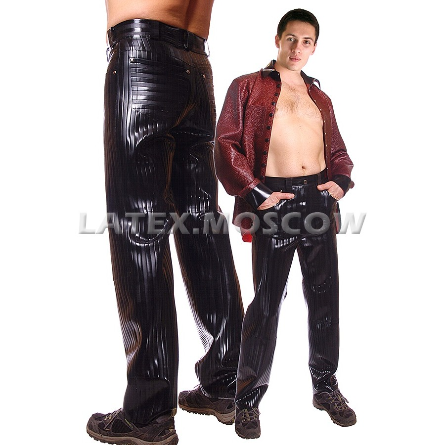 RA0158 Textured Latex Jeans