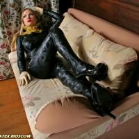 Catsuit made of Polaris Black Textured latex