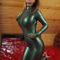 Textured Latex Green Scales