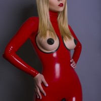 Latex Red Catsuit