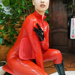 Honyco Red Catsuit