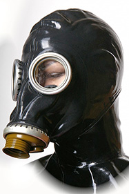 Stock gas mask glass eyes