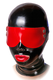 Black Blindfold, Oval eyes, Simple mouth
