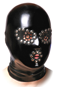 Round perforated eyes with rivets, 20 mm hole with rivets on the mouth