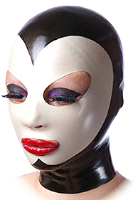Pierrot mask, Oval eyes, Simple mouth